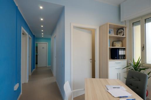 studio and corridor